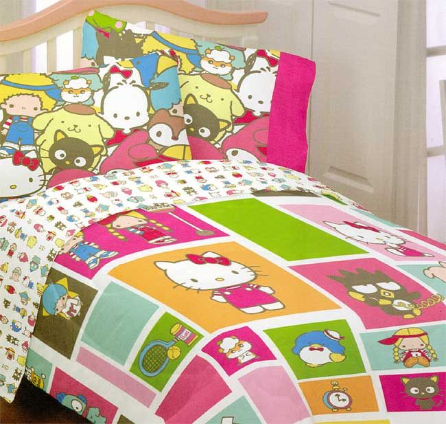 Image Detail For  Product: Sanrio Hello Kitty Twin Comforter   Keroppi  Blanket Twin Bed