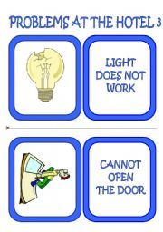 English worksheet: problems at the hotel flashcards/ speaking cards (3/3)