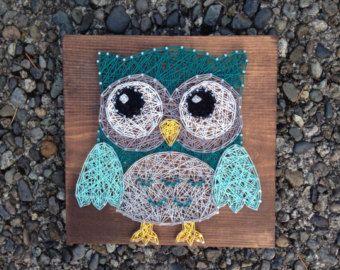 Owl String Art Custom Made to Order by StudioKR on Etsy