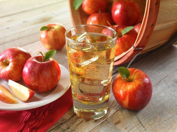 otthon készített szűrt almalé
