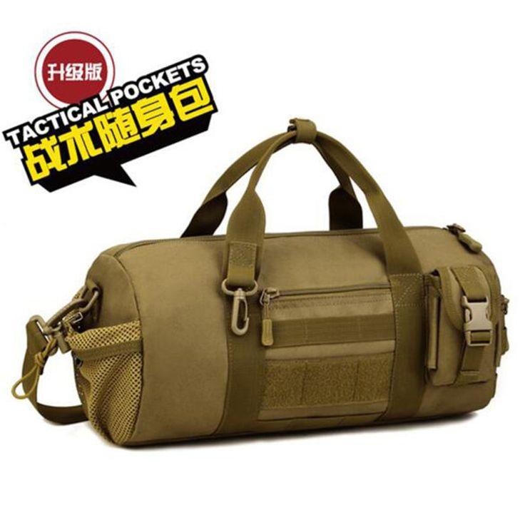 Inclined shoulder bag handbag cylinder bag barrel bag Military enthusiasts large capacity male package bag waterproof high grade