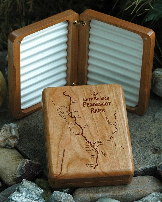 7 best images about maine river map fly boxes on pinterest for Fly fishing box