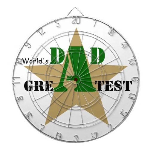 World's Greatest Dad #Golden #star #fathersday, #dad, #Worldsgreatestdad, #black #greenProfiledInk #DartBoard See more #gifts here http://www.zazzle.com/zazzleproducts1?rf=238228936251904937=zBookmarklet