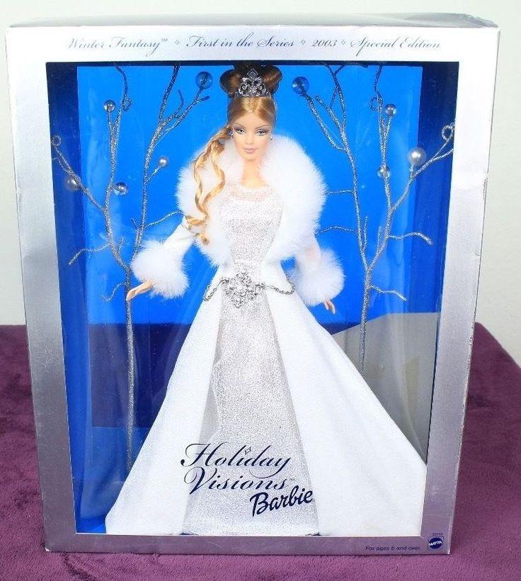 "Hallmark Celebration Barbie - Holiday Visions Barbie Winter Fantasy 2003, 13"" in Dolls & Bears, Dolls, Barbie Contemporary (1973-Now) | eBay"