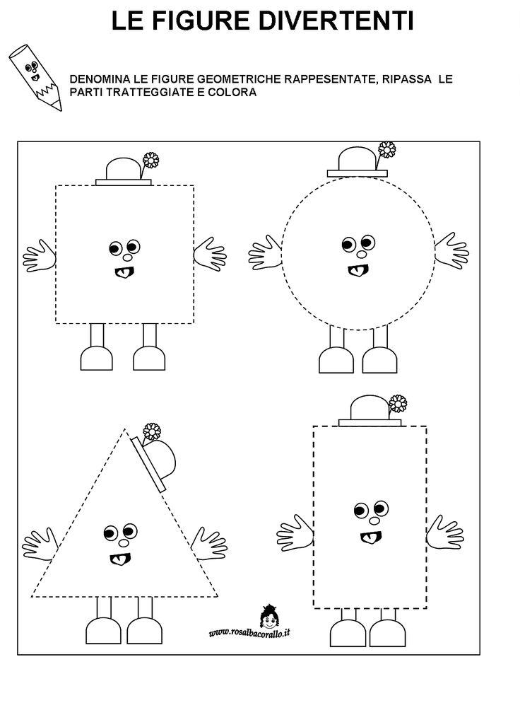 Schede didattiche Figure geometriche per bambini di 4/5 anni