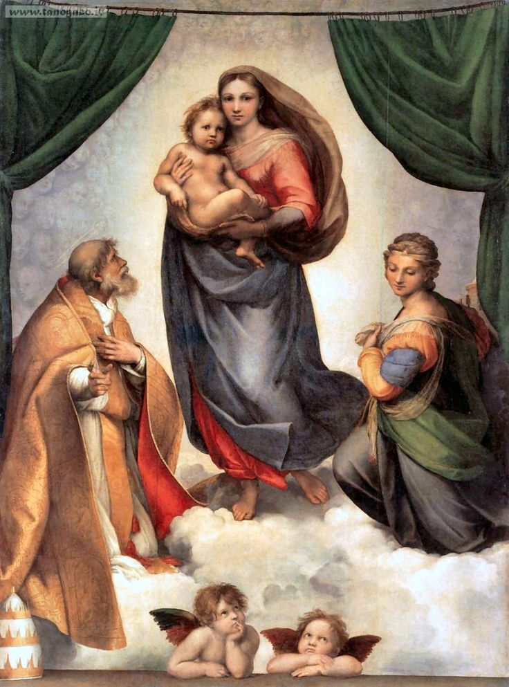 Raffaello, Madonna Sistina, 1512, olio su tela, Gemäldegalerie, Dresda