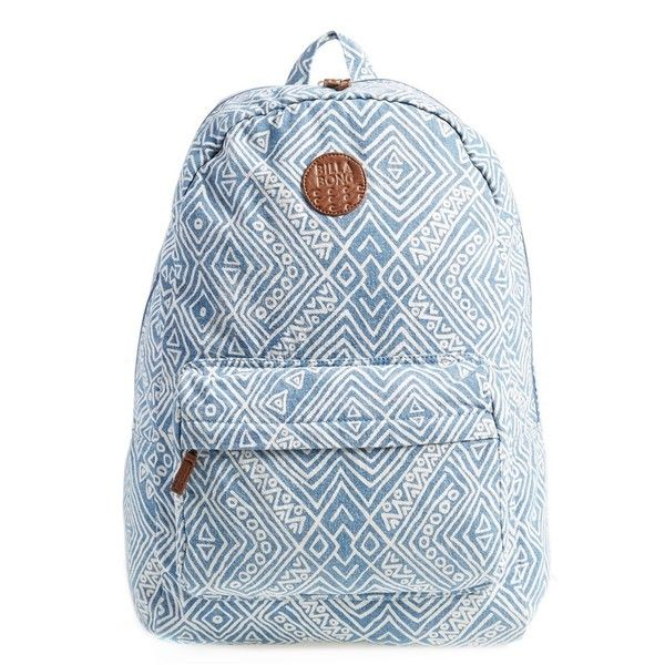 Junior Billabong 'Hand Over Love' Backpack ($27) ❤ liked on Polyvore featuring bags, backpacks, accessories, mochilas, denim, billabong backpacks, billabong rucksack, backpack bags, billabong and blue bag