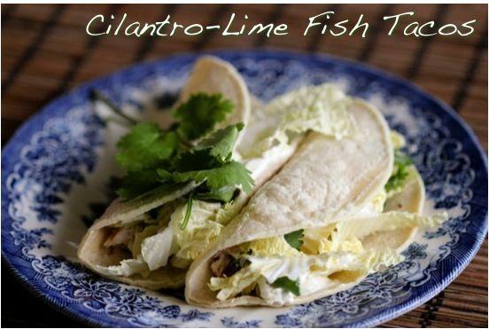 Cilantro And Lime Fish Tacos Recipes — Dishmaps