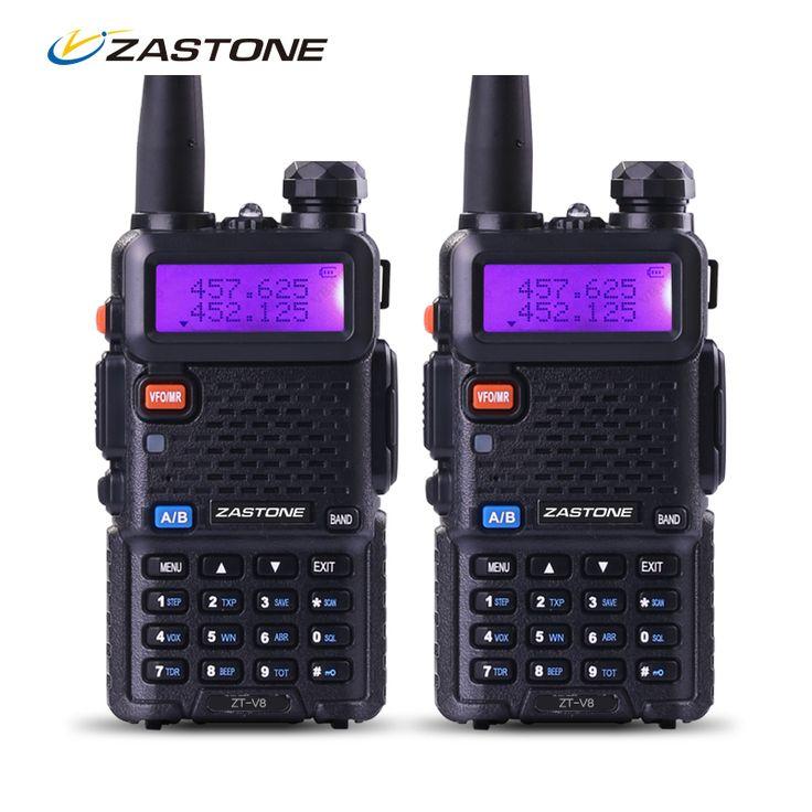 Zastone Walkie Talkie Pair V8 Dual Band VHF UHF Two Way Ham Radio HF Transceiver Communication Equipment same as baofeng uv5r