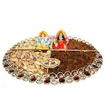 Shubh Diwali Dry fruits Thali