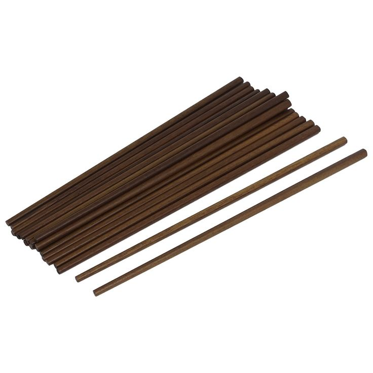 Unique Bargains 10 Pairs Reusable Chinese Wooden Chopsticks Kitchen Cutlery Gift, Brown