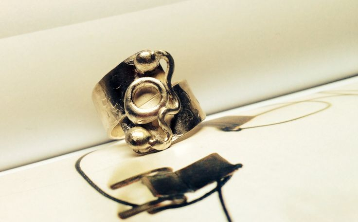 Silver handmade rustic ring