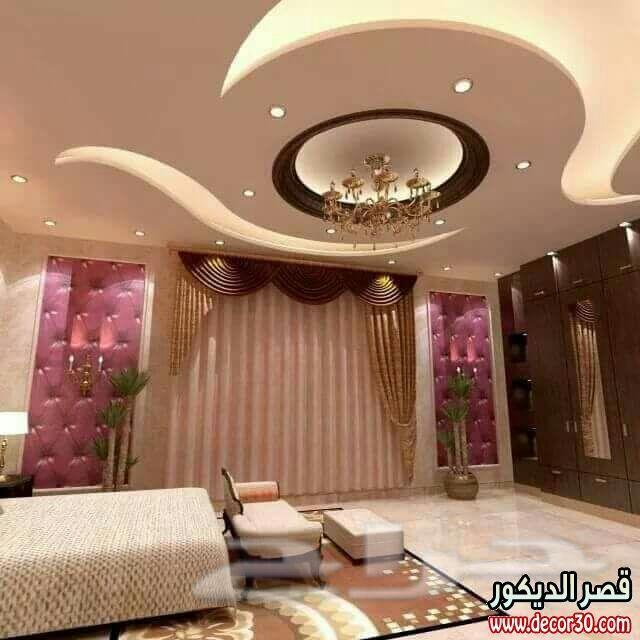 اروع ديكورات جبسية مميزة للفلل والقصور ،The latest designs decorated gypsum