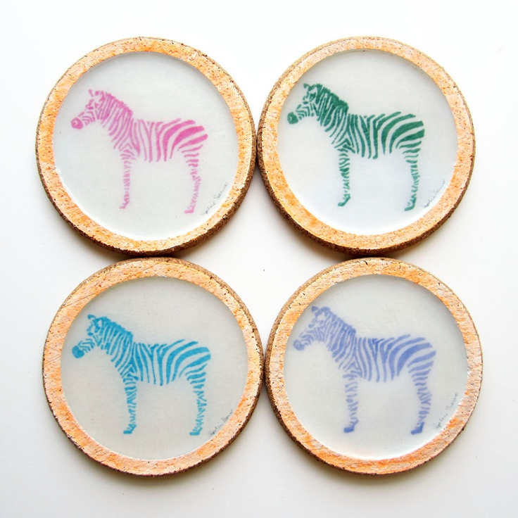 Neon Zebras Style Files Fluro Zebra Pinterest Cork