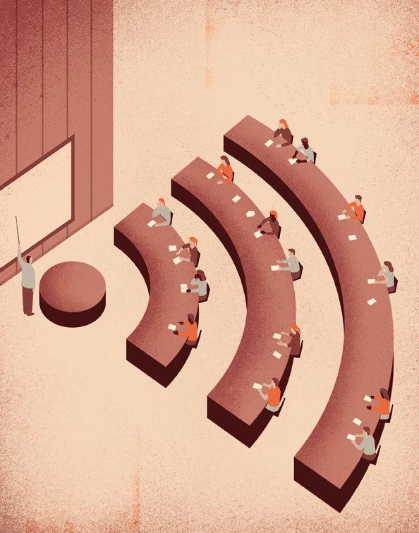 Conceptual Illustrations by Davide Bonazzi, via Behance