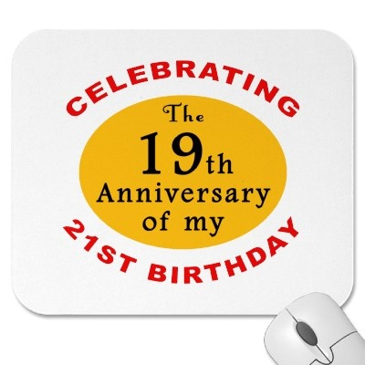 40th Birthday Gag Gifts Mouse Pad