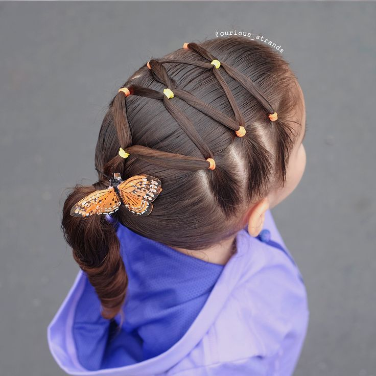 """748 Likes, 141 Comments - Mariel Toddler Hairstyles (@curious_strands) on Instagram: """"Super cute elastics hairstyle inspired by the very talented Patricia @pr3ttygirl79 we hope you…"""""""