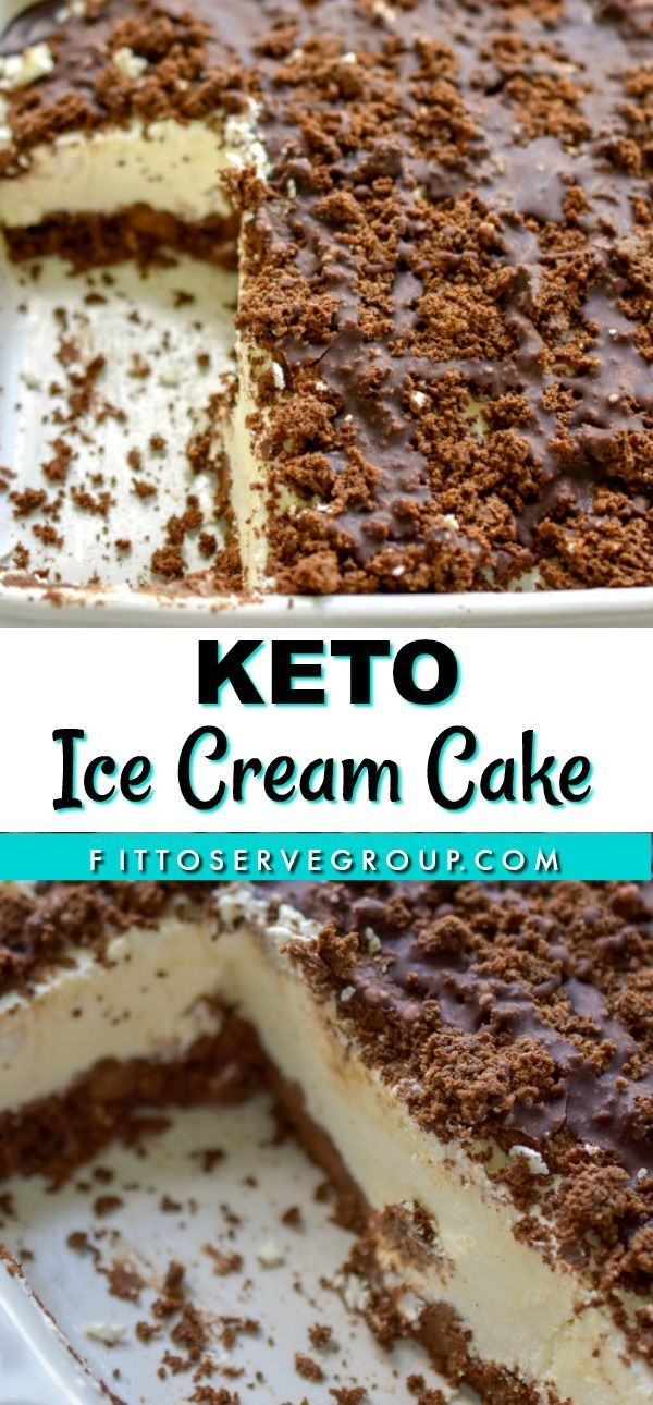 My Keto Ice Cream Cake Recipe Features Two Layers Of My Popular