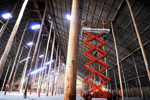 Remedial repair works in the Murtoa Stick Shed
