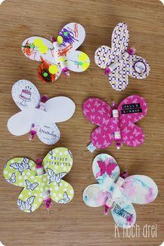 DIY: Kleines Mitbringsel in Form von #Schmetterlingen