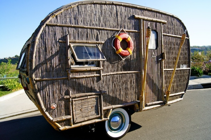 Tiki Hut Camper; OMG! Can you see this one with that Tiki Umbrella from the other photo?