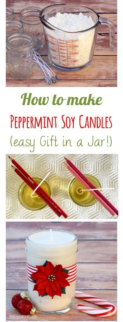 How to Make Soy Candles! EASY Homemade Gift in a Jar Idea from TheFrugalGirls.com