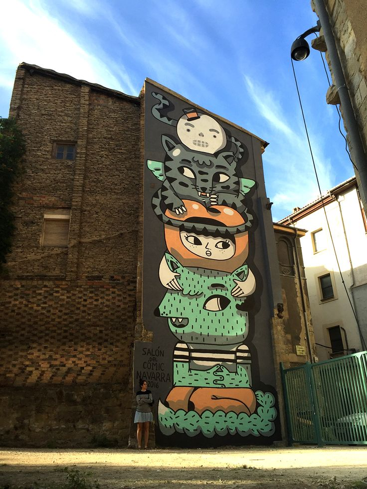 A big totem in Pamplona by Amaia Arrazola