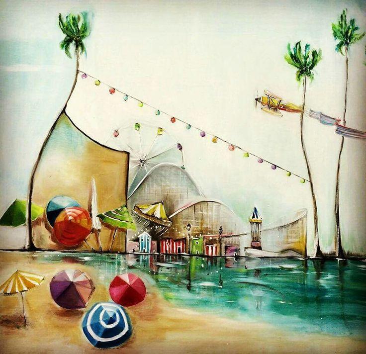Hullan Bea Santa Cruze 80x60 oil, canvas Painting