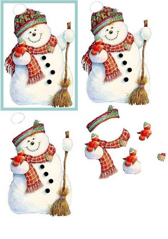 3D christmas- snowman topper