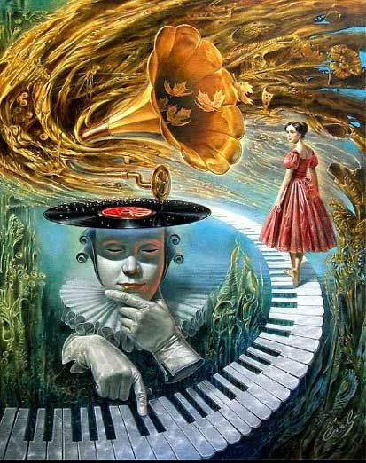 sounding silence art by michael cheval