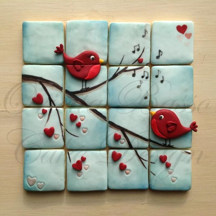 Love is....... - Cake by Orietta Basso.....love this for a bathroom tile