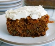 Whole Wheat Carrot Cake with Dairy-Free Frosting Recipe - Pamela Saltzman