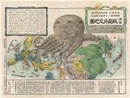 Rare Map for Sale: 1904 Kisaburō Ohara Satirical Octopus Map of Asia and Europe at Geographicus Rare Antique Maps