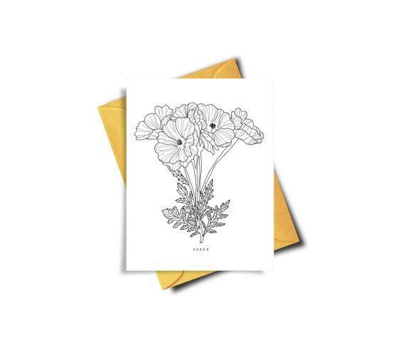 Instant Download Invitation Poppy Instant Download by BAECKANN