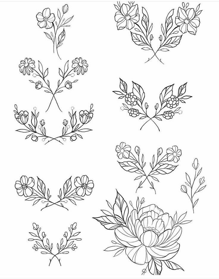 This is a graphic of Exceptional Small Flower Drawing