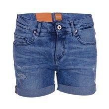 Hugo Boss Orange Liranda Shorts - Light Blue Heavy Destroyed
