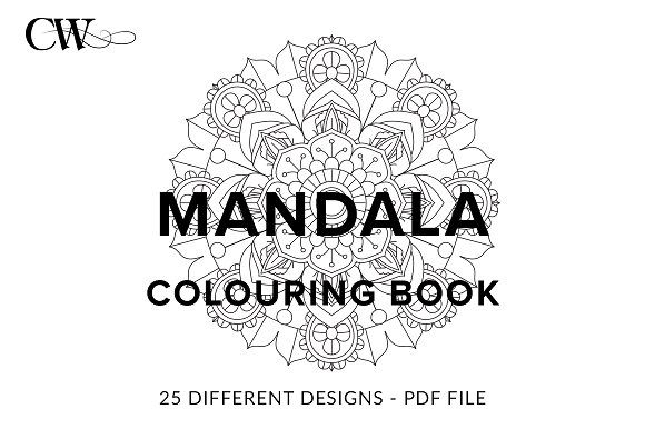Mandala Colouring Book by CoutureWeb on @creativemarket