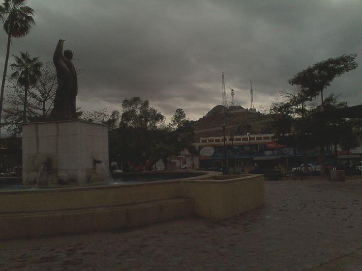 el jardin juarez,localizado en el mero centro de la ciudad,se observa la estatua del benemerito de las americas