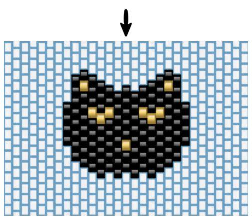 Tissage brick stitch tête de chat - Perles & Co