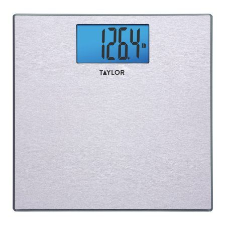 Taylor 7413 Textured Stainless Steel Digital Scale, Silver