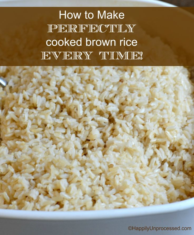 How To Make Perfect Brown Rice Every Time Recipe — Dishmaps