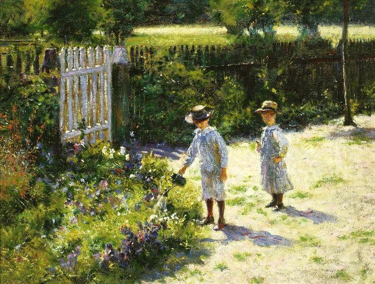 Wladyslaw Podkowinski, Children in a garden,1892