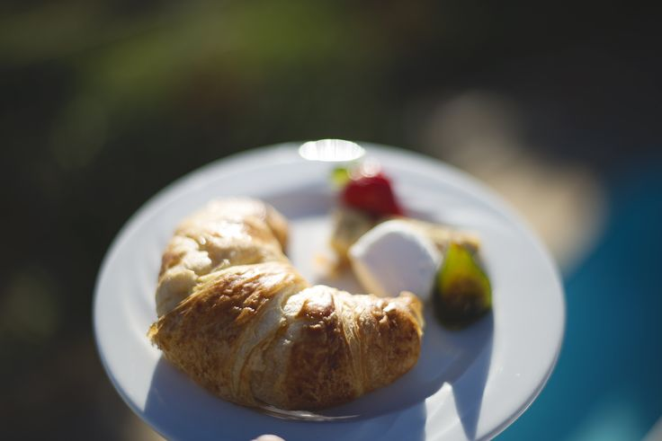 Morning croissant, preserves, figs and cheese at The Last Word Long Beach.