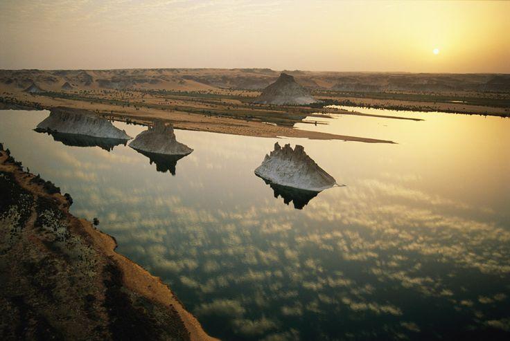 Lago Teli, Cuenca del Ounianga (Desierto del Sáhara, Chad)