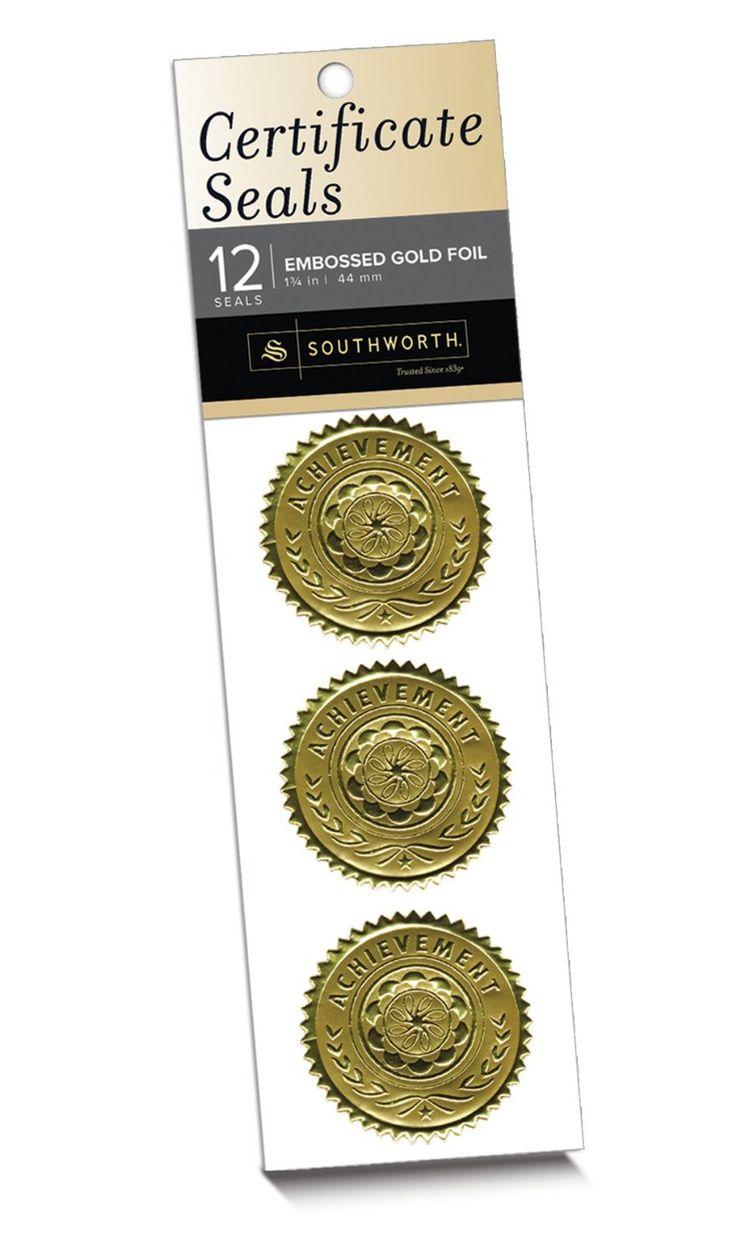 Amazoncom southworth certificate seals quotachievement for Southworth business card template