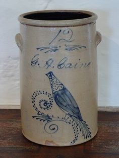 Beaumont Brothers Salt Glazed Pottery | salt glaze stoneware crocks to store food ~♥~