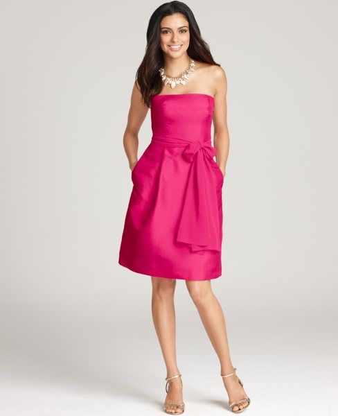 @Michelle Royal another cute, slightly expensive one. Silk Dupioni Strapless Bridesmaid Dress