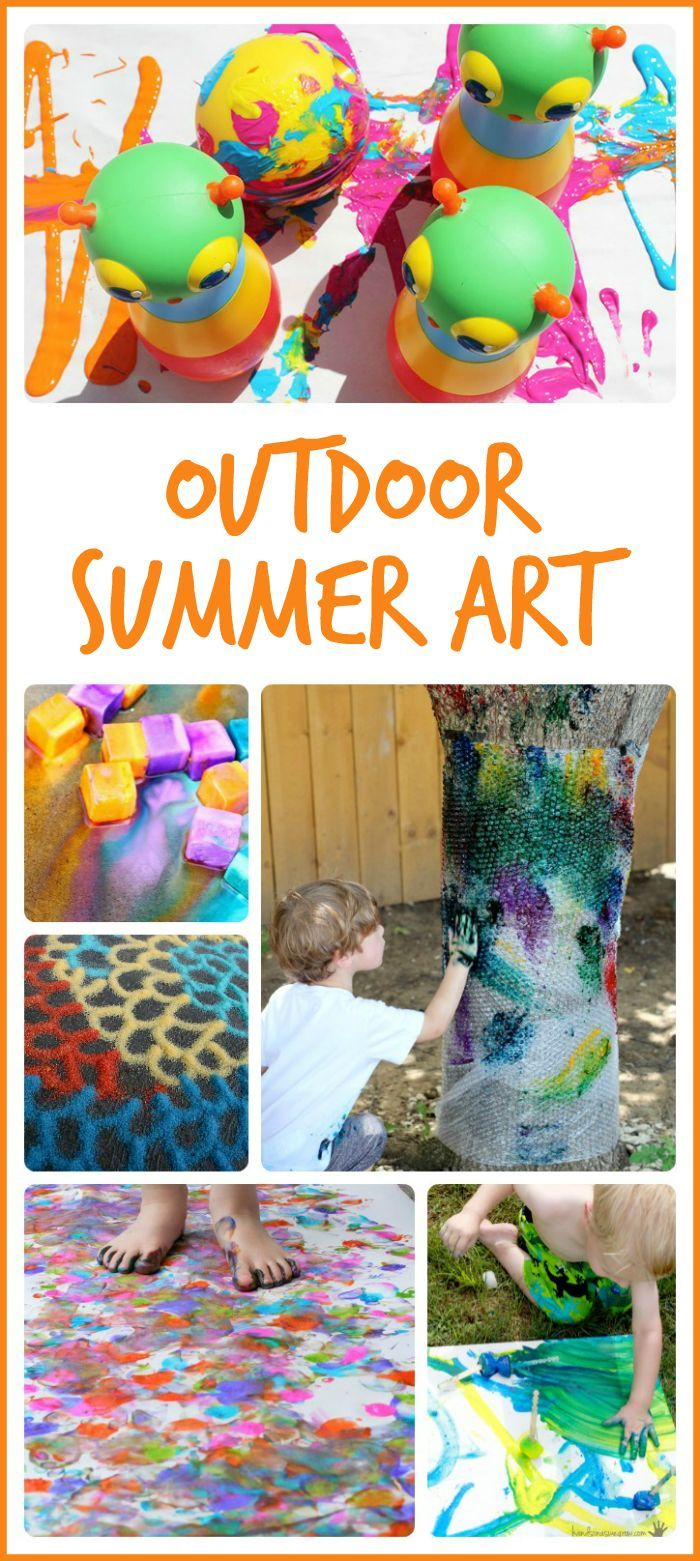 15 awesome outdoor summer art projects! These would be so much fun for summer camp!