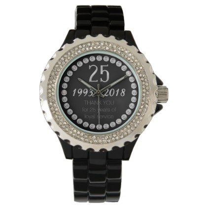 Thank You 25th Anniversary Employee Work Watch - thank you gifts ideas diy thankyou
