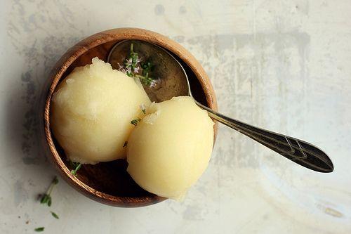 lemon, honey + thyme sorbet